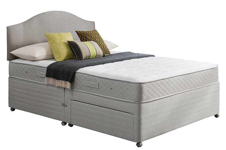 Antigua 5 39 2 double drawer divan base verdel for Double divan bed base with drawers